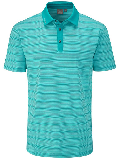 Ping Eugene Tailored Fit Polo - Lake Blue Multi