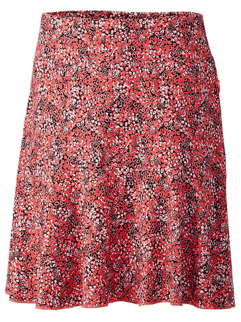 Annika W Crush Print Pull-On Skort - Sport Coral