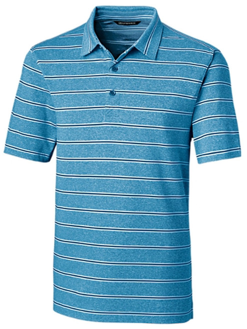 Cutter & Buck DryTec Forge Heather Stripe Polo - Chambers