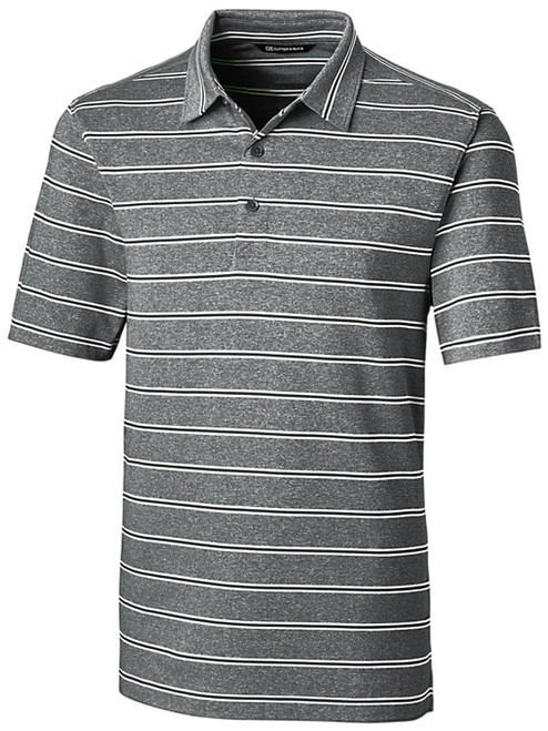 Cutter & Buck DryTec Forge Heather Stripe Polo - Black