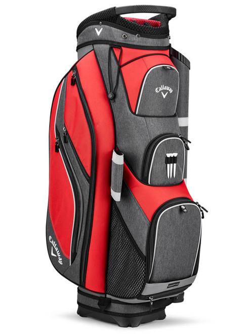 Callaway Forrester 19 Cart Bag - Red/Titanium/Silver