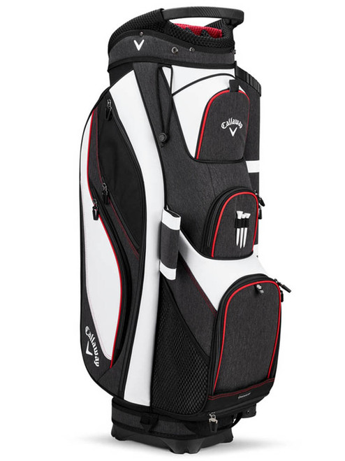 Callaway Forrester 19 Cart Bag - White/Black/Red