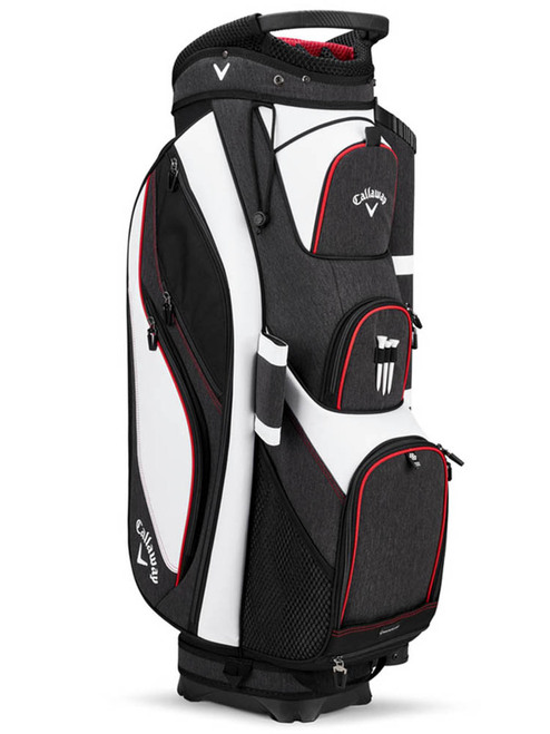Callaway Forrester 19 Cart Bag - White/Black/Red