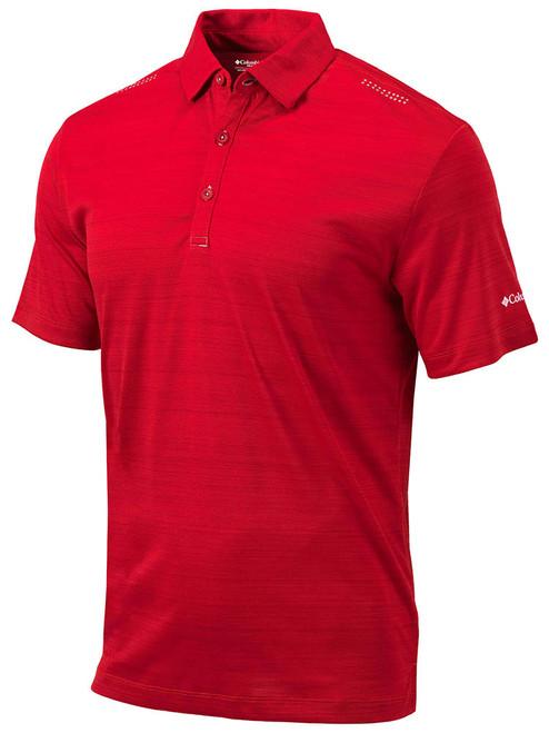 Columbia Golf Omni-Wick Printed Dot Polo - Intense Red