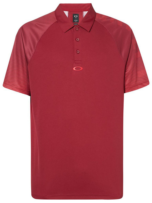 Oakley Graphic Logo Sleeves Polo - Raspberry