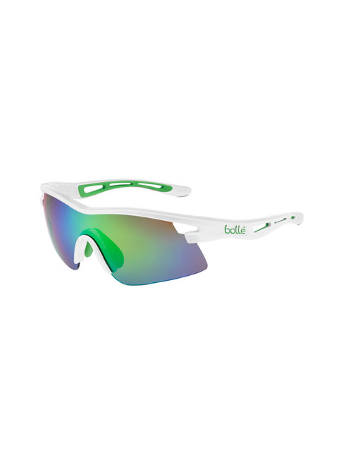 Bolle Vortex Sunglasses - White w/ Brown Emerald