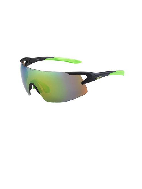 Bolle 5th Element Sunglasses - Matte Black w/ Green Brown