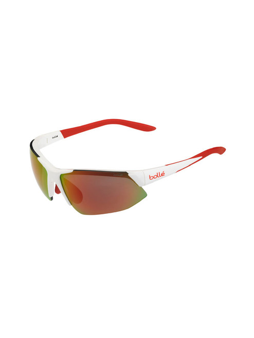 Bolle Breakaway Sunglasses - Shiny White Orange w/ TNS Fire