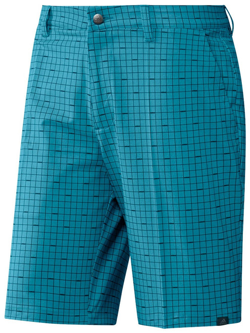 Adidas Ultimate365 Plaid Short - Active Teal