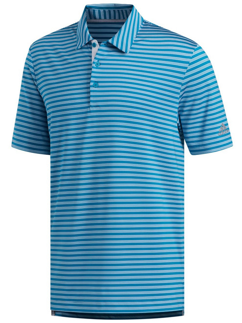 Adidas Ultimate365 2-Stripe Polo - Active Teal/White