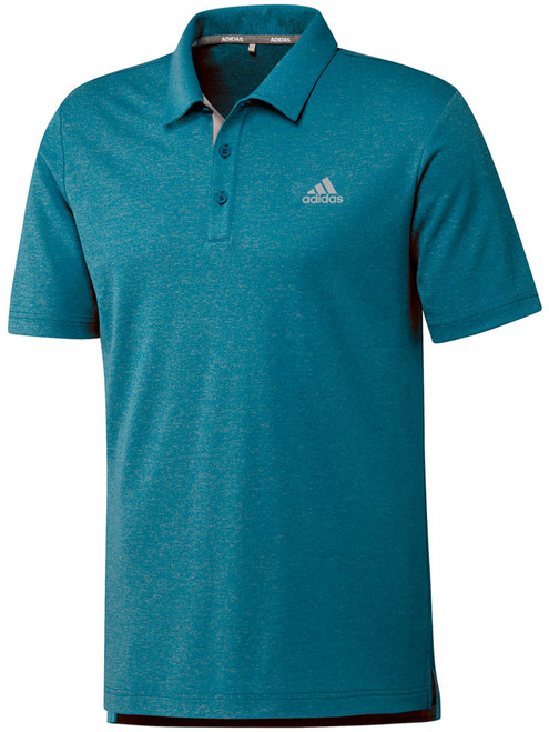 Adidas Advance Novelty Heather Polo - Active Teal/Grey Two