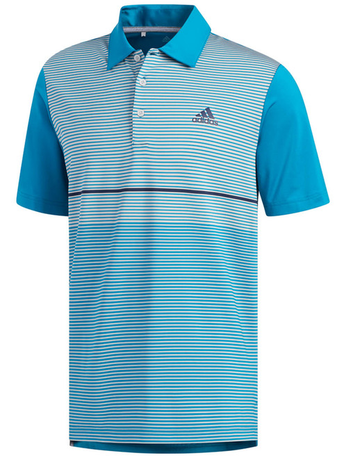 Adidas Ultimate365 Colour Block Polo - Active Teal/Grey Two