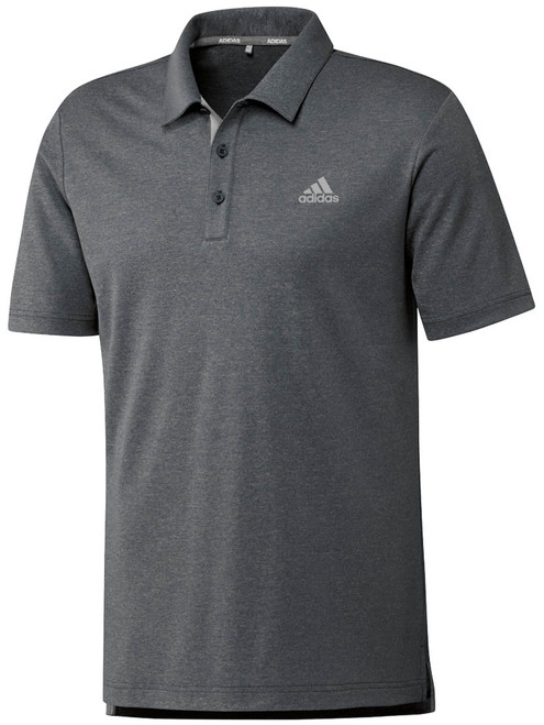 Adidas Advance Novelty Heather Polo - Black Heather