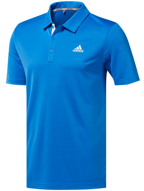 Adidas Advance Novelty Heather Polo - True Blue Heather