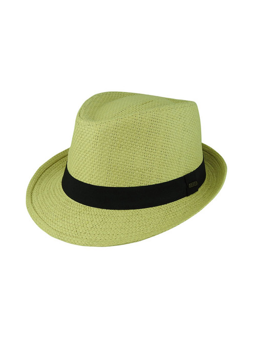 Avenel Classic Woven Trilby Hat - Natural