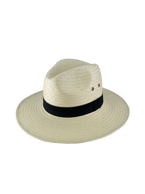 Avenel Paper Wide Brim Hat - Natural