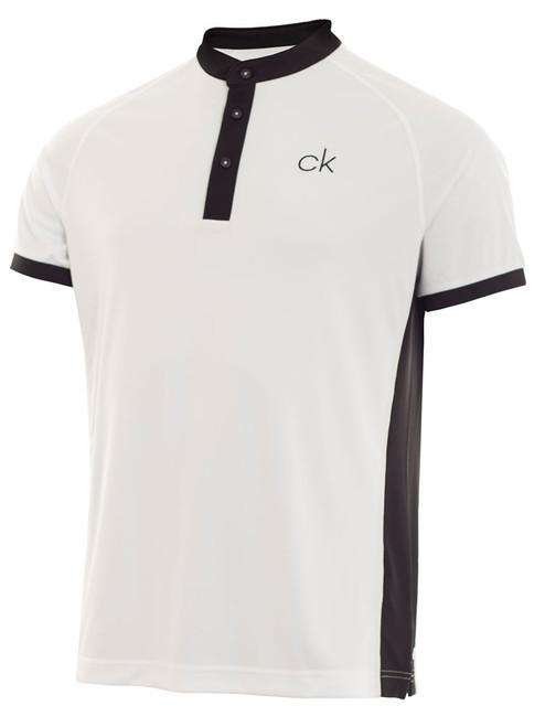 Calvin Klein Collar Stand Polo - White/Black