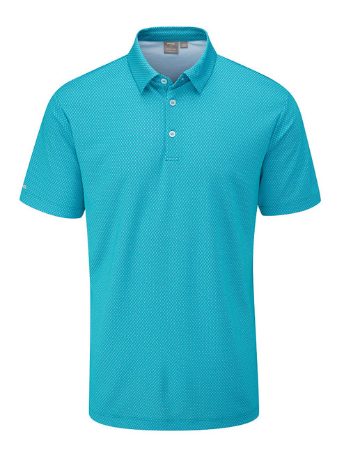 Ping Spike Tailored Fit Polo - Lake Blue Multi
