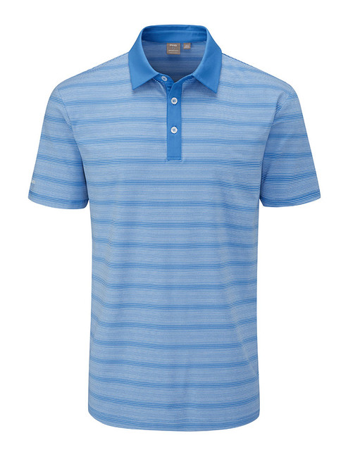 Ping Eugene Tailored Fit Polo - Vista Blue Multi