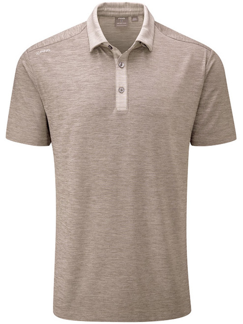 Ping Chandler Tailored Fit Polo - Walnut Marl