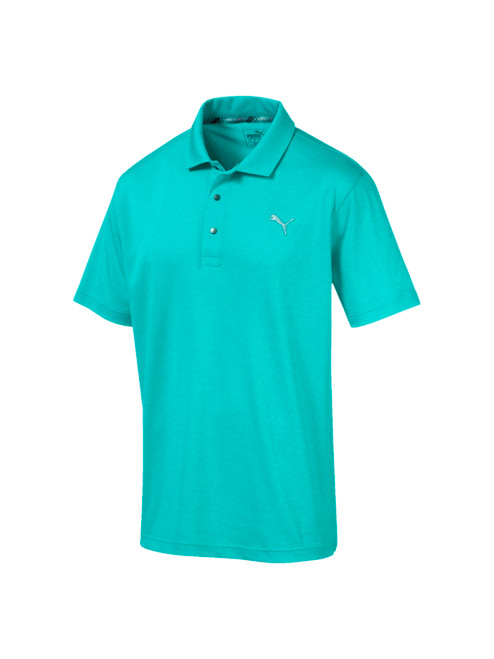 Puma Grill To Green Polo - Blue Turquoise Heather