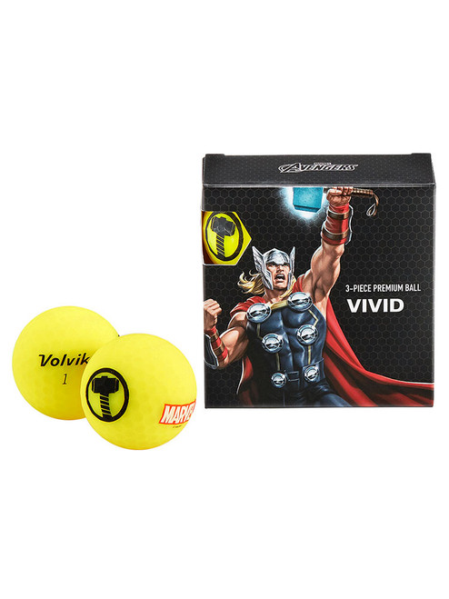 Volvik Marvel Golf Balls - 4 Pack Thor