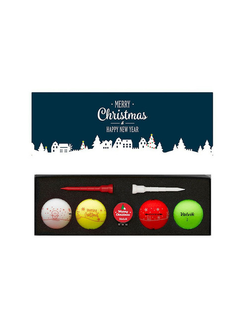 Volvik Vivid Merry Christmas Golf Balls - 4 Pack