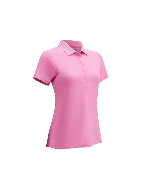 Callaway Youth Girls Solid Polo - Fushcia Pink