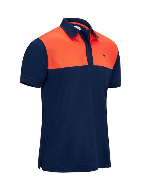 Callaway Youth Boys Colour Blocked Polo - Dress Blue