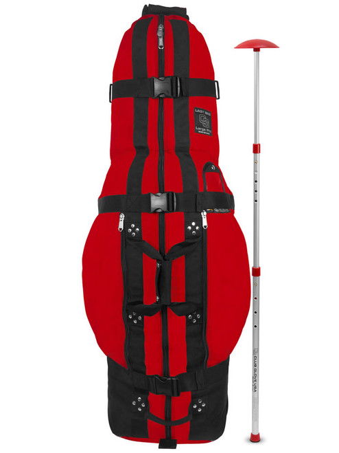 Club Glove Large Pro Travel Bag with Stiff Arm - Red