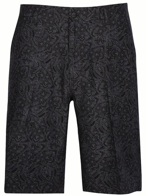 Greg Norman ML75 Paisley Print Short - Black