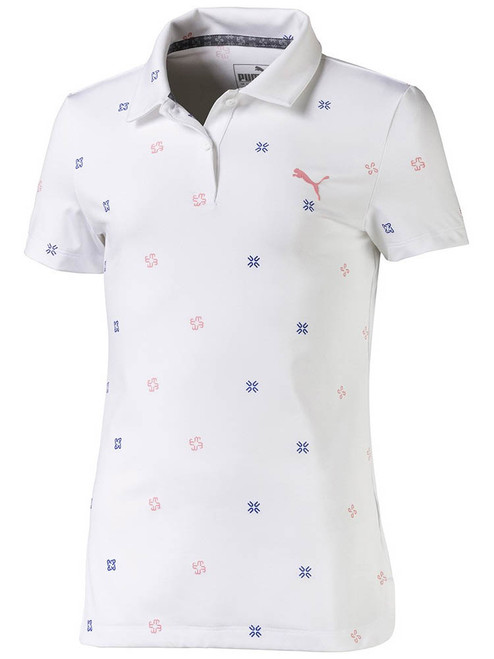 Puma JR Girls Ditsy Polo - Bright White