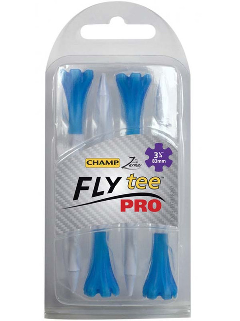 CHAMP FLYtee Pro 4 Pack 3.25 Inches White/Blue