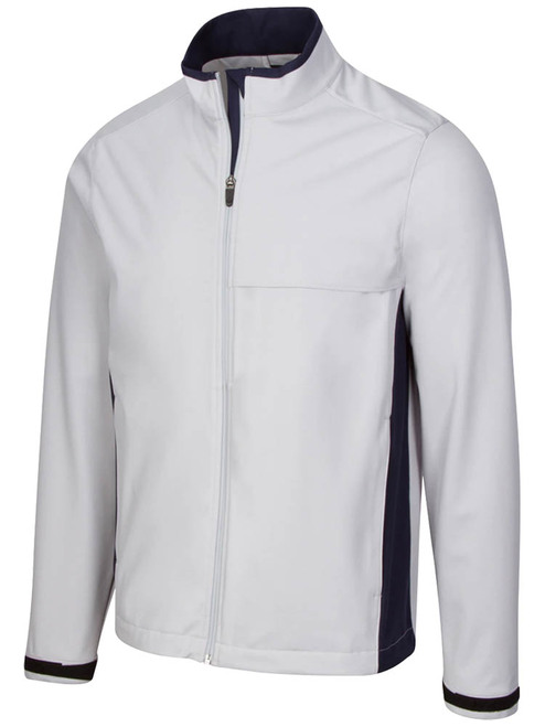 Greg Norman Weatherknit Full Zip Jacket - Shark Grey