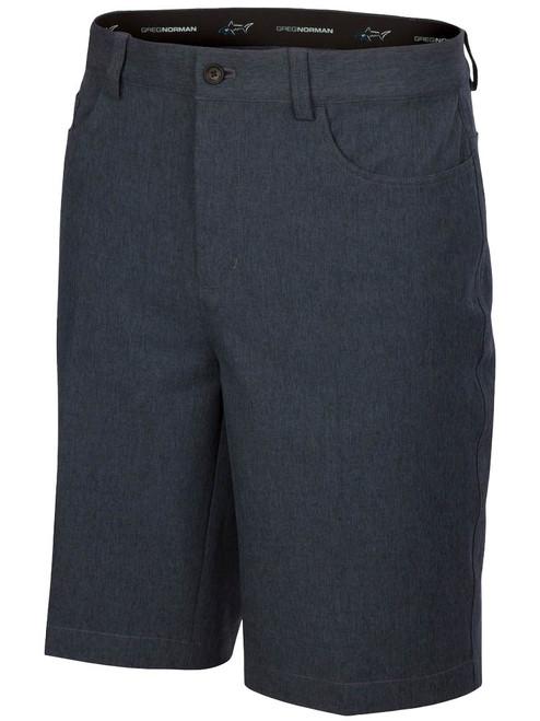 Greg Norman ML75 Heathered 5-Pocket Short - Black Heather