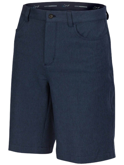 Greg Norman ML75 Heathered 5-Pocket Short - Dark Navy Heather