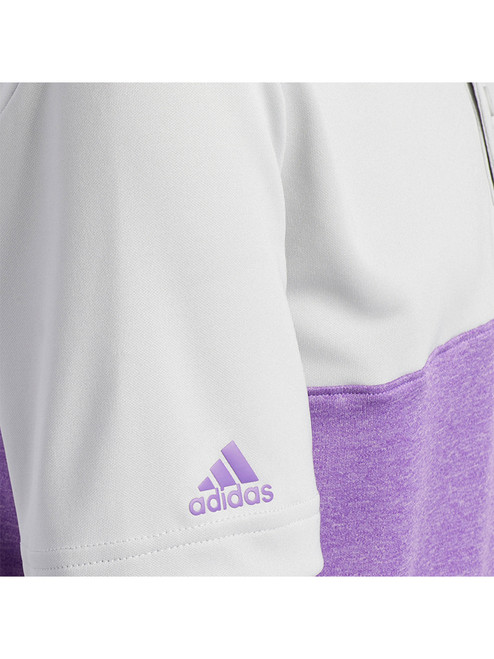 Adidas JR Heather Colourblock Polo - Grey Two F17/Active Purple