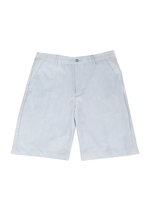 Greg Norman Fine Stripe Short - Steel Blue