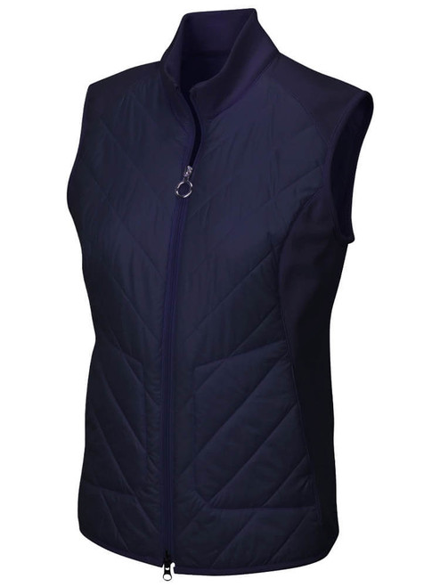 Greg Norman W Chevron Quilted Cire Vest - Navy