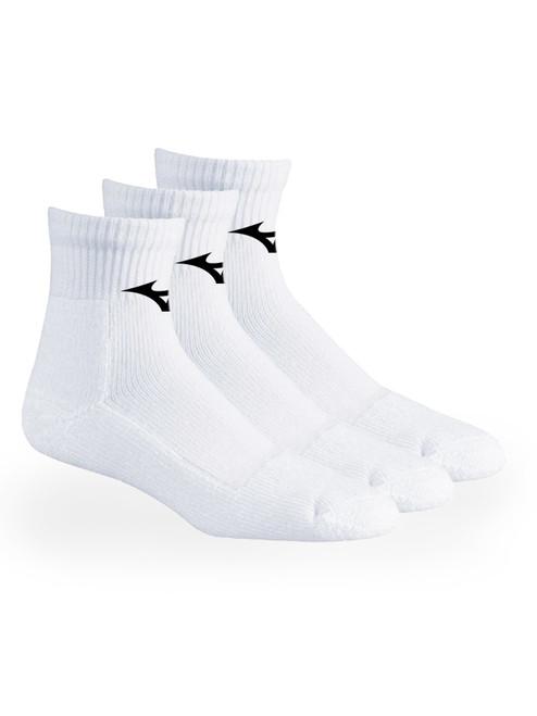 Mizuno 1/4 Crew 3 Pack Socks - White