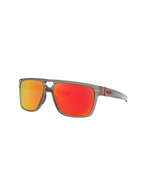 Oakley Crossrange Patch Sunglasses - Matte Grey w/ Prizm Ruby