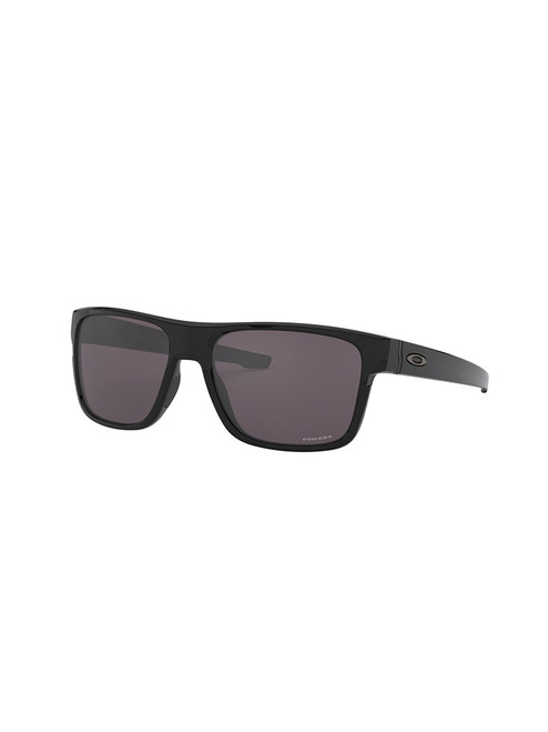 Oakley Crossrange Sunglasses - Polished Black w/ Prizm Grey