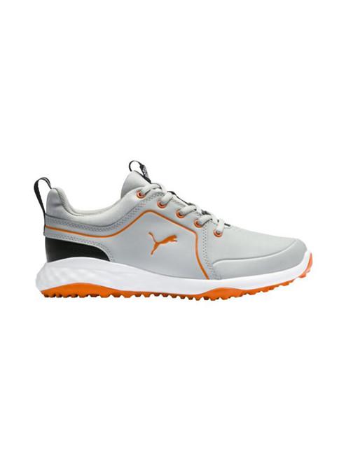 Puma JR Grip Fusion 2.0 Golf Shoes - High Rise/Vibrant Orange