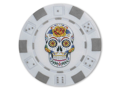 Stonehaven Magnetic Poker Chip Ball Marker White Skull