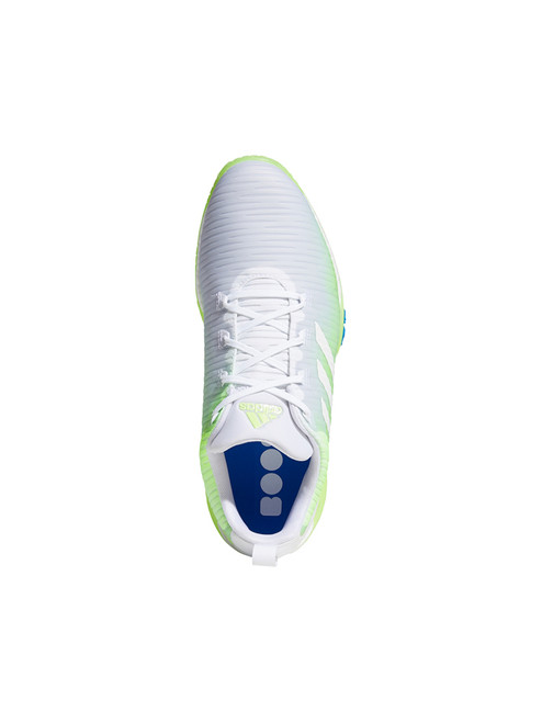 Adidas Codechaos Golf Shoes - FTWR White/Signal Green/Glory Blue