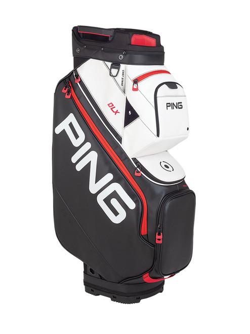 Ping DLX 191 Cart Bag - Black/White/Scarlet