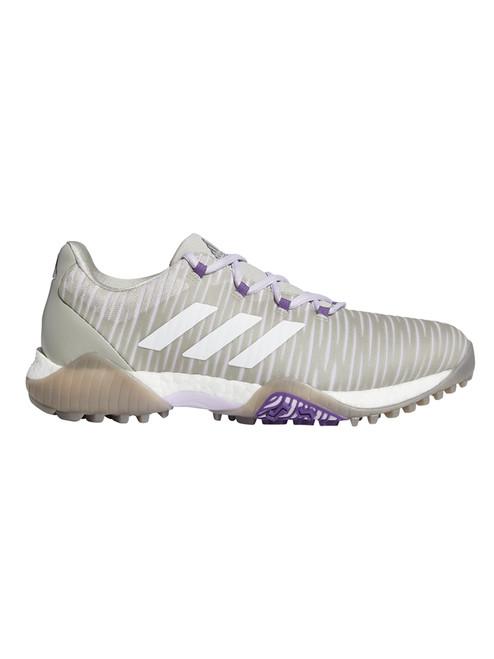Adidas W Codechaos Golf Shoes - Metal Grey/Crystal White/Purple Tint