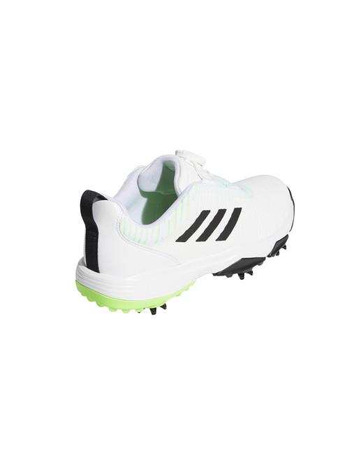 Adidas JR Codechaos BOA Golf Shoes - FTWR White/Core Black/Signal Green