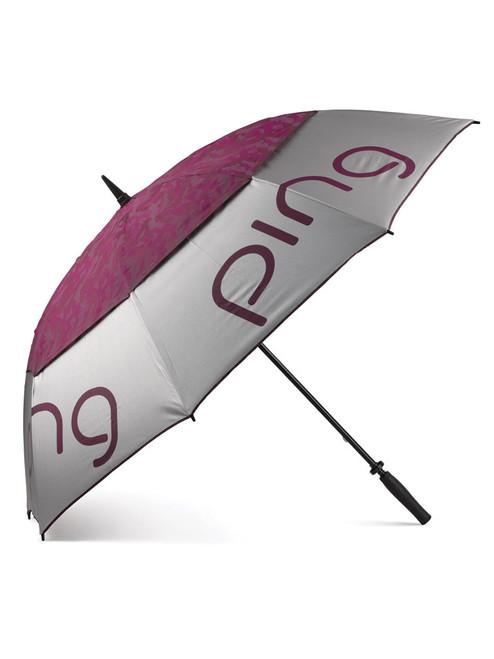Ping Ladies Umbrella - Silver/Garnet