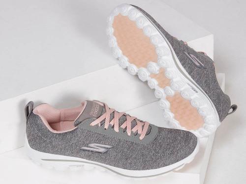 Skechers W Go Golf Go Walk Sport Golf Shoes - Grey/Pink
